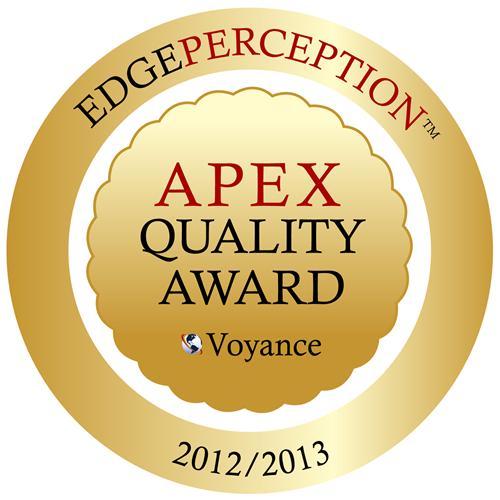 Apex 2012-2013 Quality Award Seal